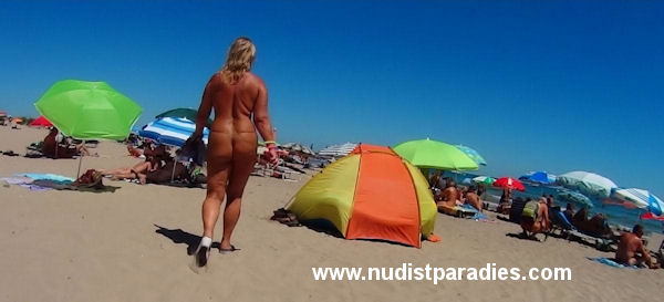 Really. happens. Nude chrissy cap d agde