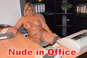 nude in the office
