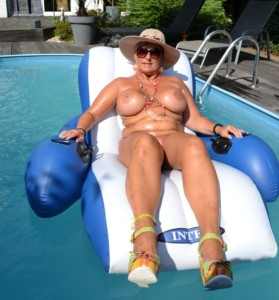 relaxing at nude-pool