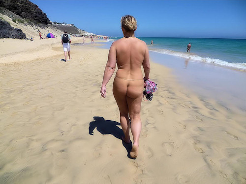 Nude Walk On The Beach