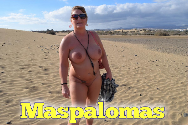 nude in the dunes of maspalomas