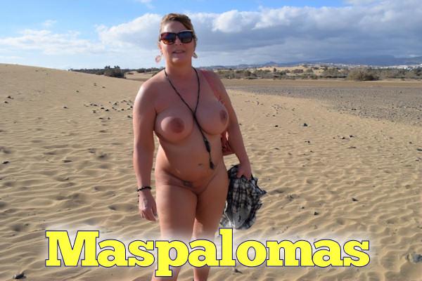 nude in the dunes of maspalomas