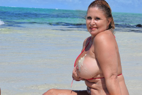 topless am strand