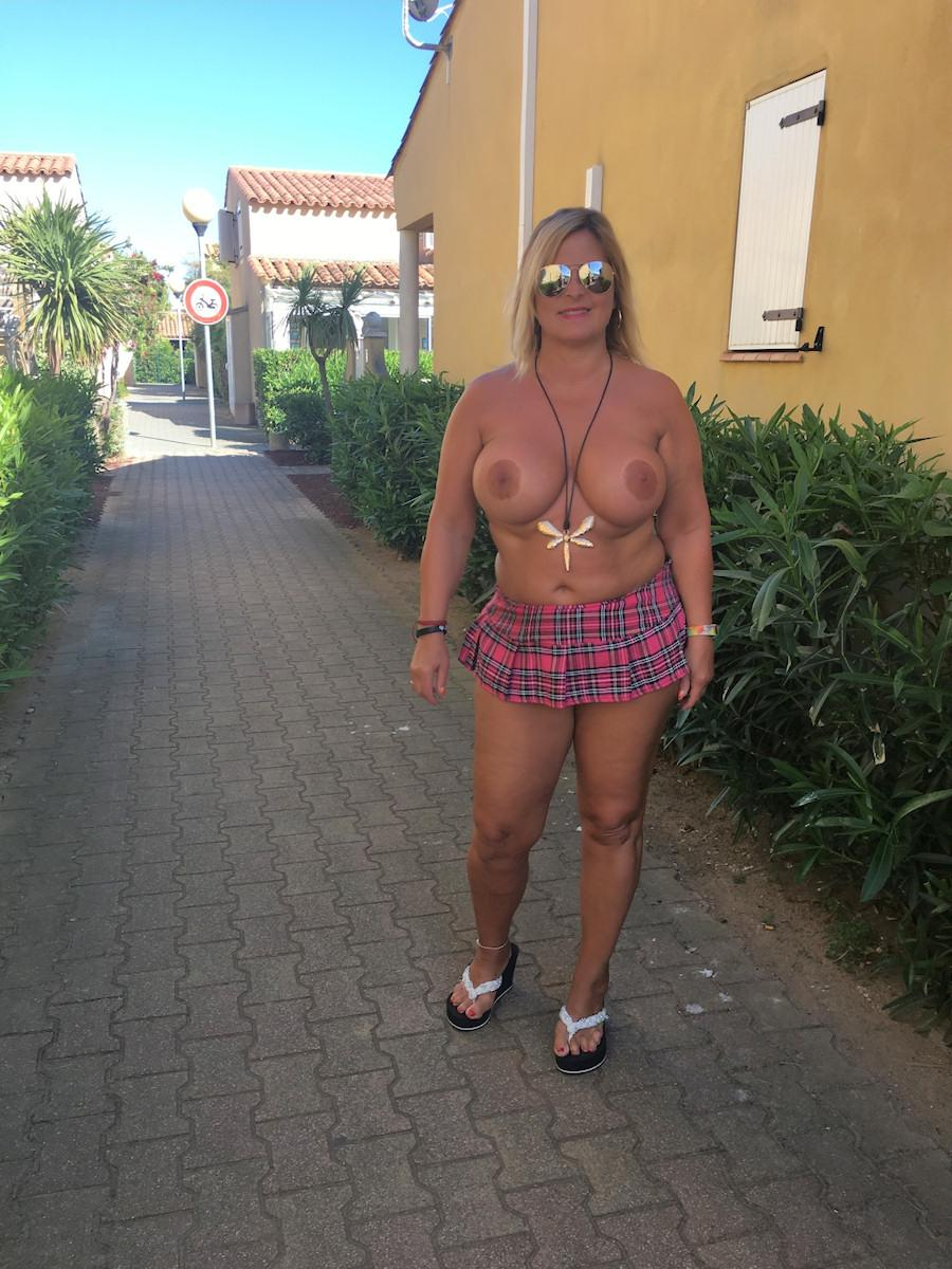 always nude in the nudist-resort