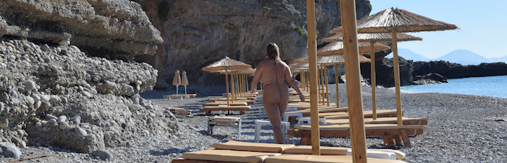 nudist-beach of vritomartis