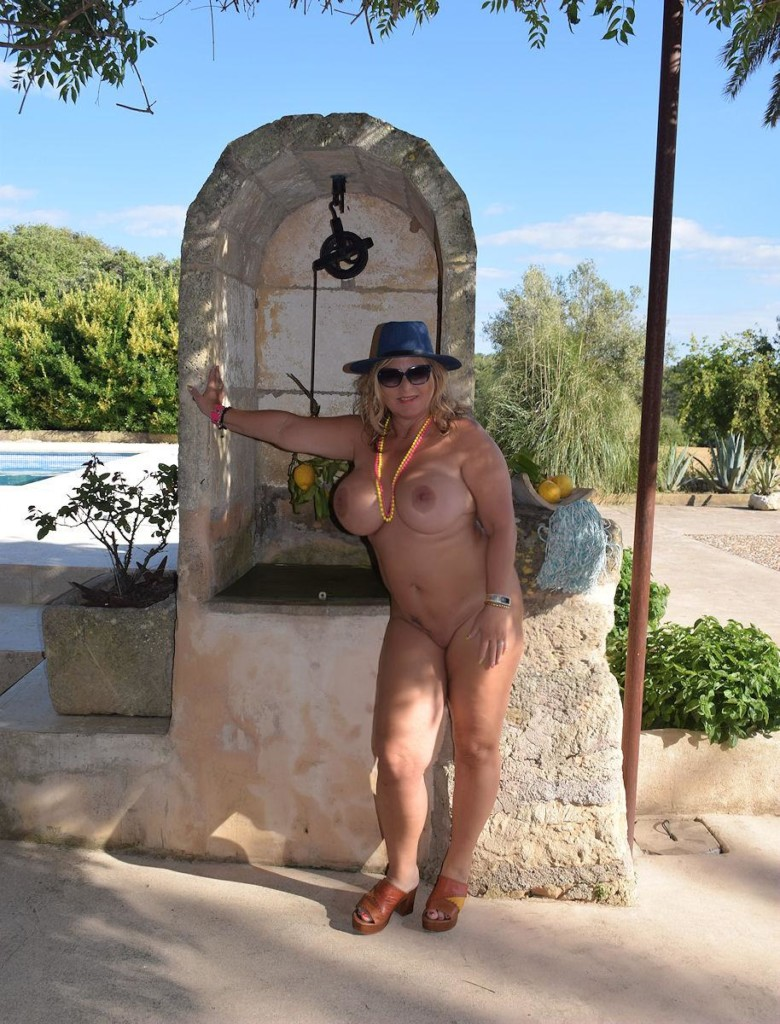 naked posing