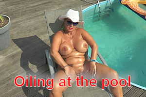 oiling at the pool