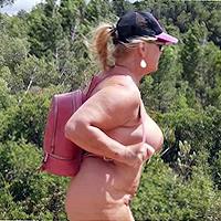 nude hiking